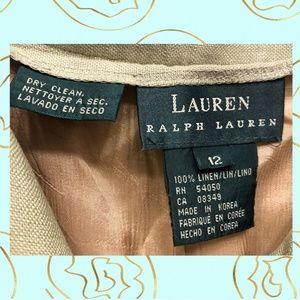 Lauren Ralph Lauren Pants - Lauren Ralph Lauren Pale Sage Linen Pants